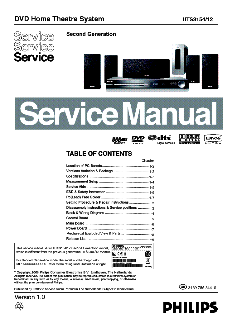 Philips hts3110 service manual download by edgarcorrigan issuu.